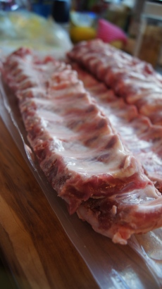 Baby back ribs raw