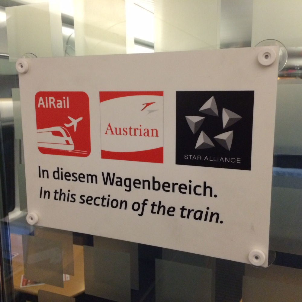 Austrian Airlines AiRail train