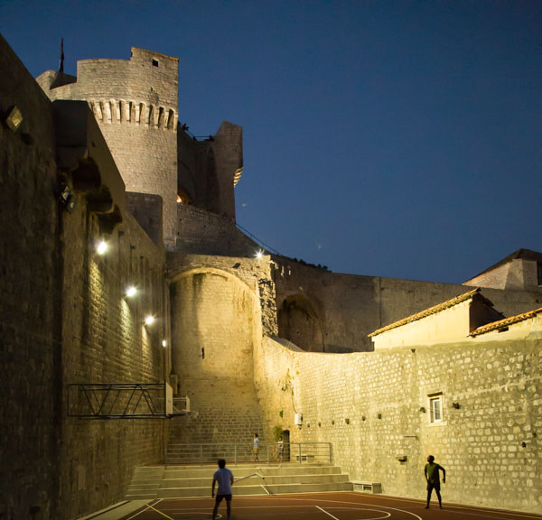 The Dubrovnik Walls at Night