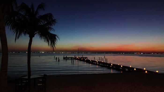 Sunset over Isla Mujeres