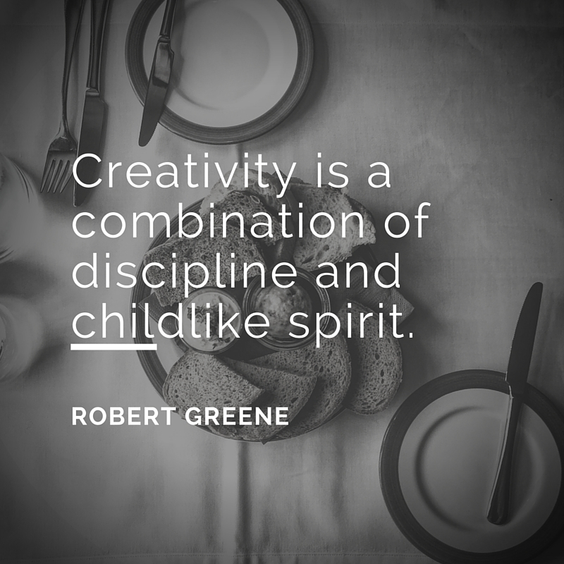 Creativity quote: Creativity is a combination of discipline and childlike spirit.