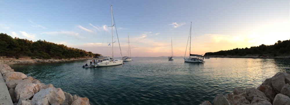 Sailing yachts in Croatia
