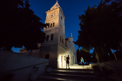 Primosten Church at Night